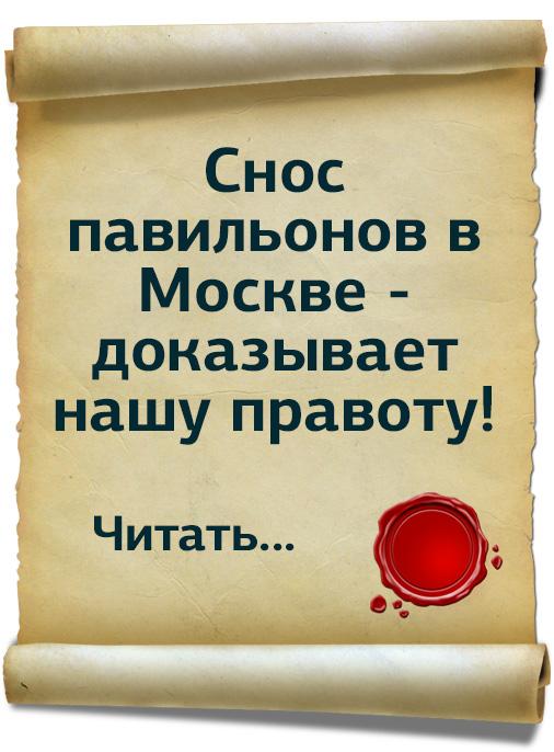 Снос палаток в Москве доказал нашу правоту!