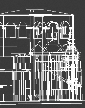 Построение чертежей по лазерному сканированию.