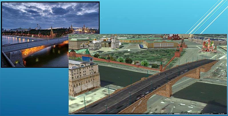 Большой Москворецкий мост. Результаты сканирования.